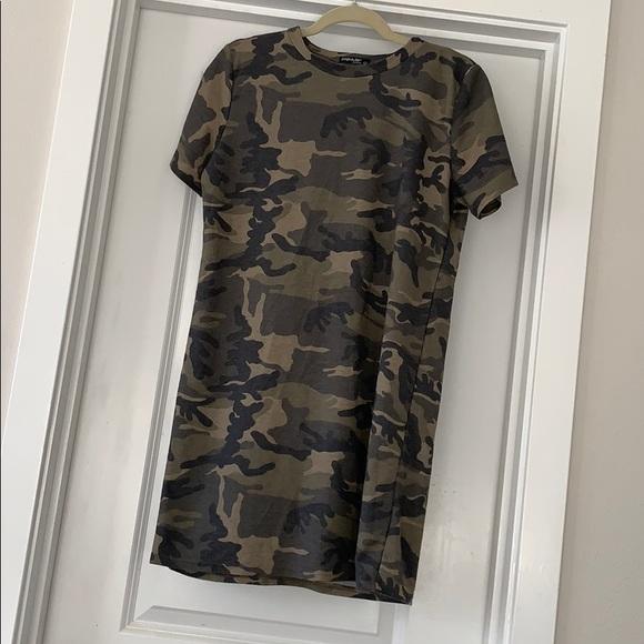 4bc83467 Fashion Nova Tops - Fashion Nova Camo print t-shirt dress